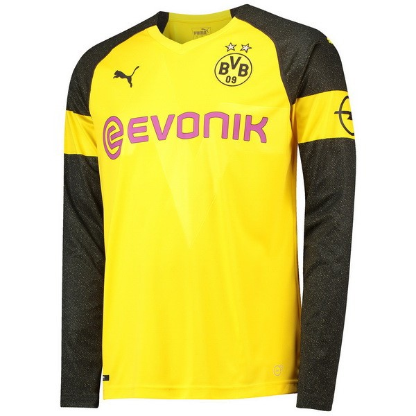 Magasin Foot PUMA Domicile Maillots Manches Longues Borussia Dortmund 2018 2019 Jaune