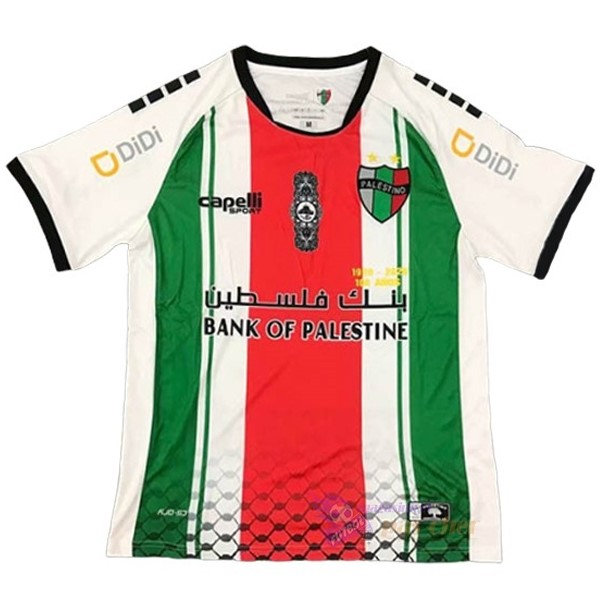 Magasin Foot capelli Exterieur Maillot CD Palestino 2020 2021 Blanc