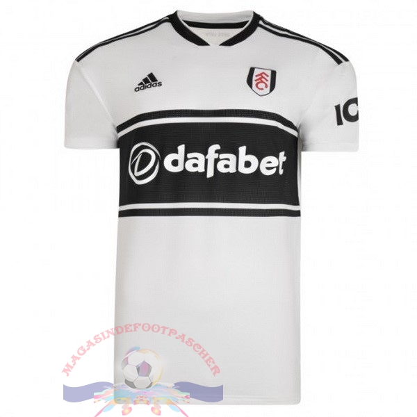 Magasin Foot adidas Domicile Maillots Fulham 2018-2019 Blanc