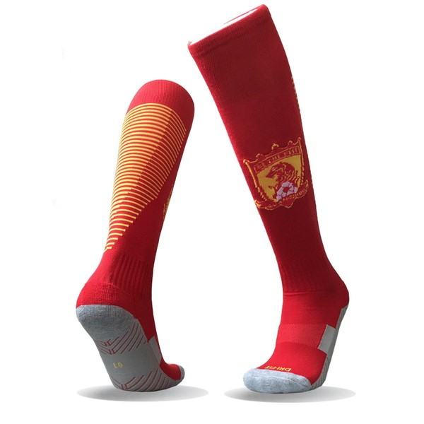 Magasin Foot Nike Domicile Chaussettes Evergrande 2017 2018 Rouge