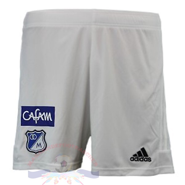 Magasin Foot Adidas DomiChili Shorts Millonarios 2019 2020 Blanc