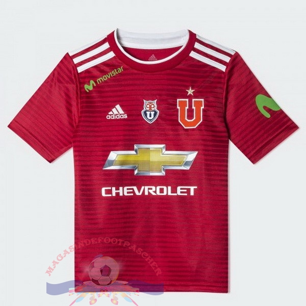 Magasin Foot adidas Exterieur Maillots Universidad De Chile 2018-2019 Rouge