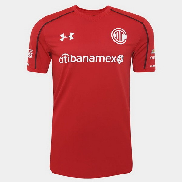 Magasin Foot Under Armour Domicile Maillots Deportivo Toluca 2017 2018 Rouge