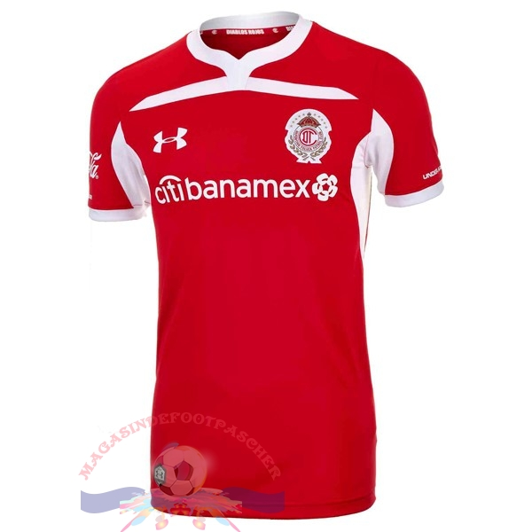 Magasin Foot Under Armour Domicile Maillots Deportivo Toluca 2018-2019 Rouge