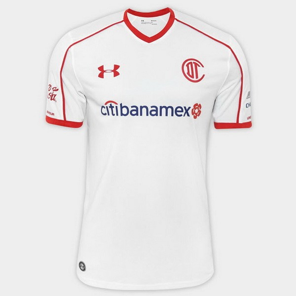 Magasin Foot Under Armour Exterieur Maillots Deportivo Toluca 2017 2018 Blanc