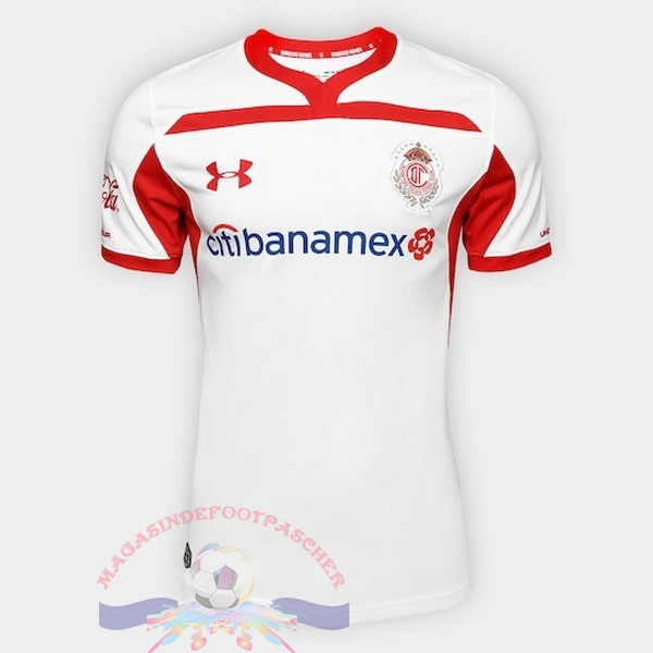 Magasin Foot Under Armour Exterieur Maillots Deportivo Toluca 2018-2019 Blanc