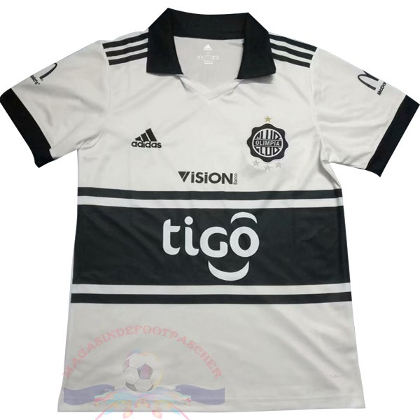 Magasin Foot Adidas DomiChili Maillot Club Olimpia 2018 2019 Blanc