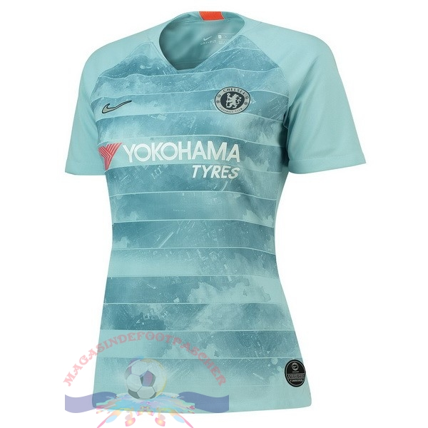 Magasin Foot Nike Third Maillots Femme Chelsea 2018-2019 Bleu