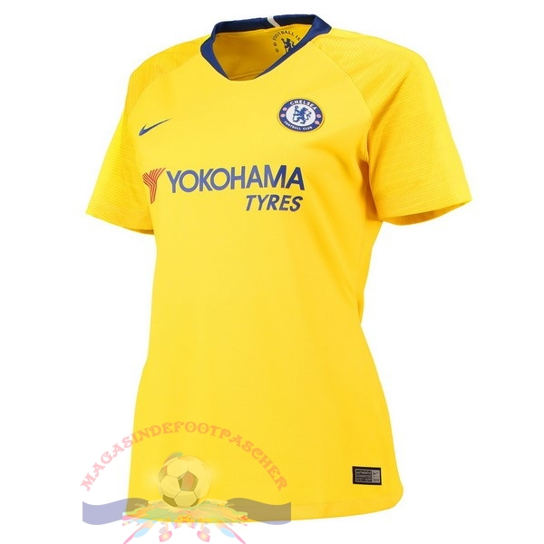 Magasin Foot Nike Exterieur Maillots Femme Chelsea 18-19 Jaune