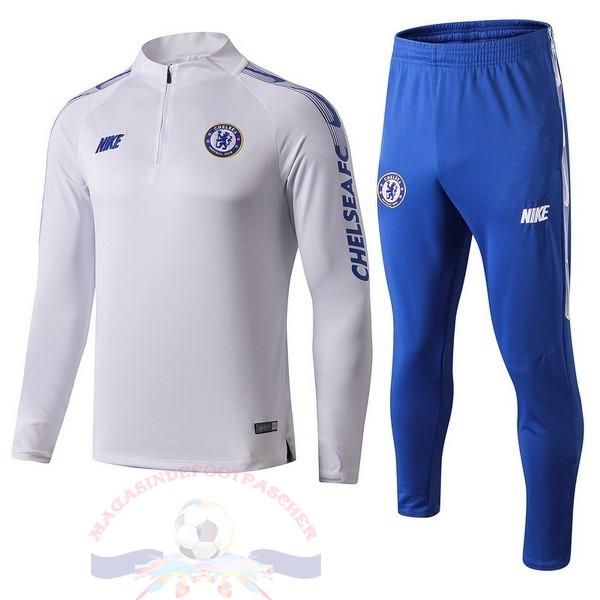 Magasin Foot Nike Survêtements Chelsea 2019 2020 Blanc