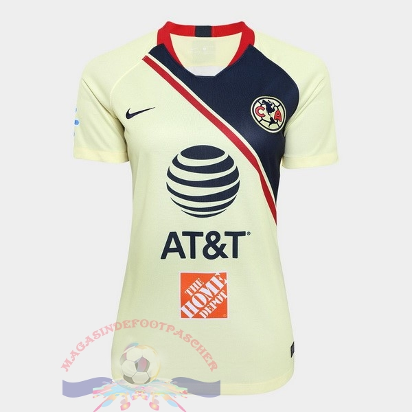 Magasin Foot Nike Domicile Maillots Femme Club América 2018-2019 Jaune