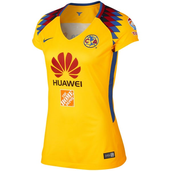 Magasin Foot Nike Third Maillots Femme Club América 2017 2018 Jaune