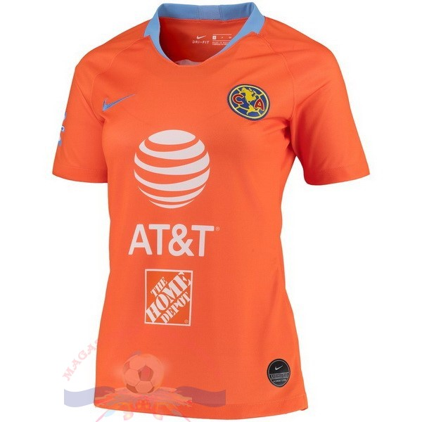 Magasin Foot Nike Third Maillot Femme Club América 2019 2020 Orange