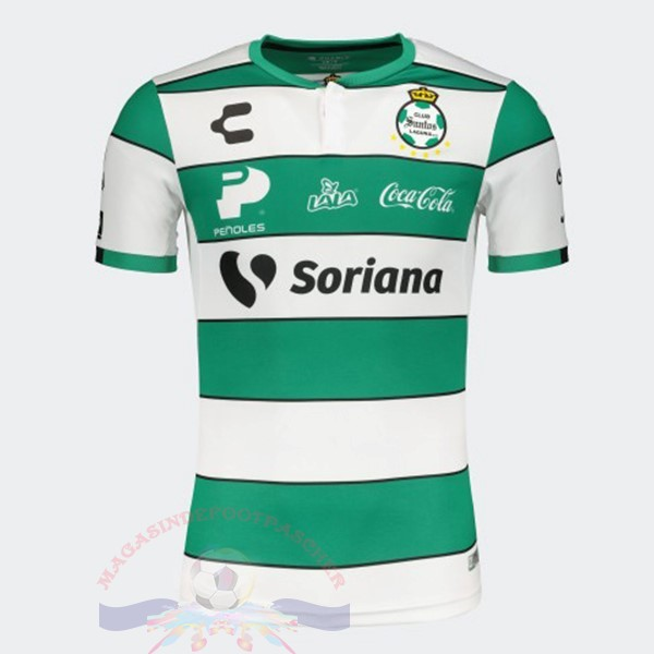 Magasin Foot Tenis Charly Domicile Maillot Santos Laguna 2019 2020 Vert