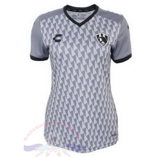 Magasin Foot Tenis Charly Third Maillot Femme Cuervos 2019 2020 Gris