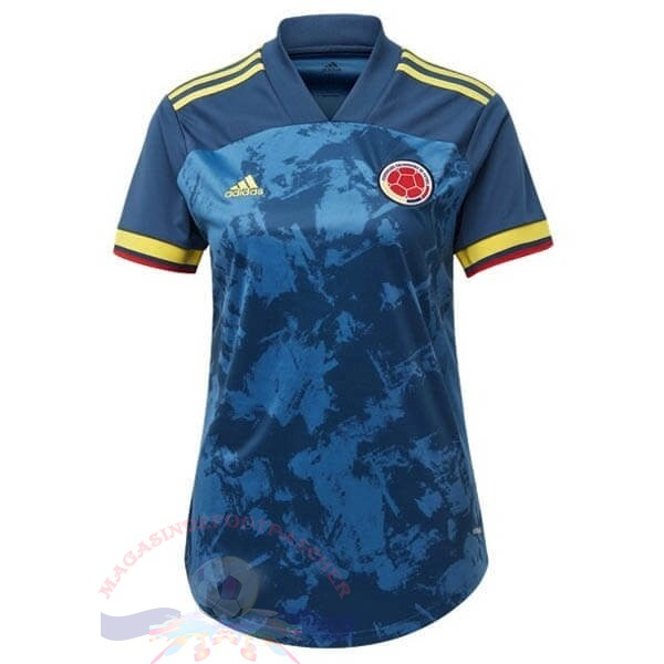 Magasin Foot adidas Exterieur Maillot Femme Colombia 2020 Bleu