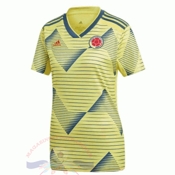 Magasin Foot adidas Domicile Maillot Femme Columbia 2019 Jaune