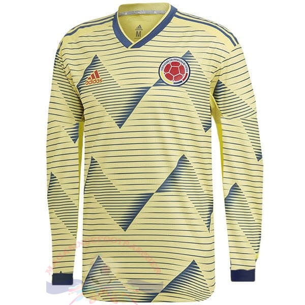 Magasin Foot adidas Domicile Manches Longues Columbia 2019 Jaune