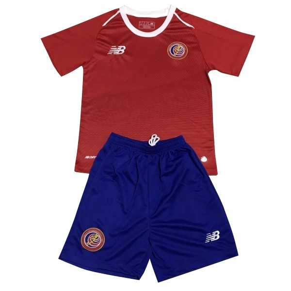 Magasin Foot New Balance Domicile Ensemble Enfant Costa Rica 2018 Rouge