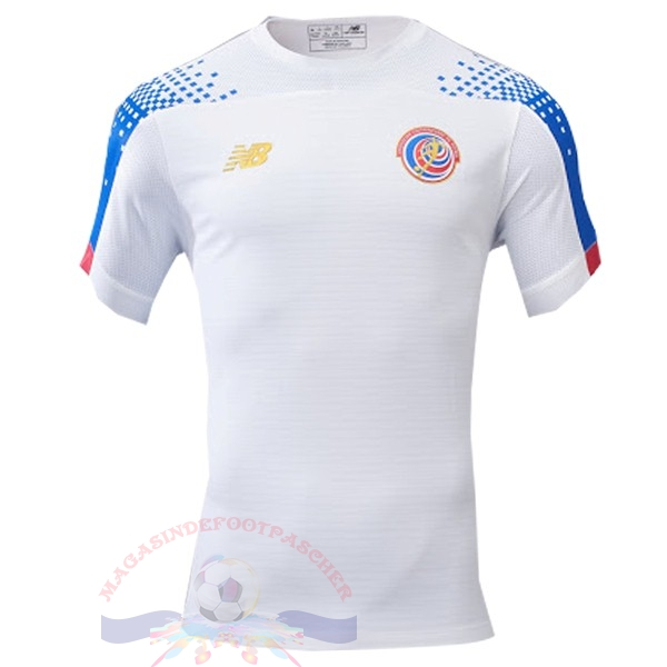Magasin Foot New Balance Exterieur Maillot Costa Rica 2019 Blanc