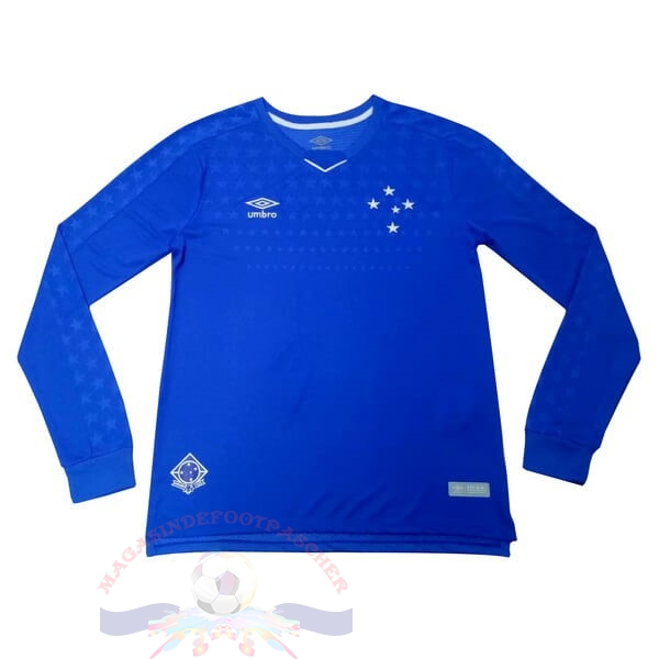 Magasin Foot umbro Domicile Maillot Manches Longues Cruzeiro 2019 2020 Bleu