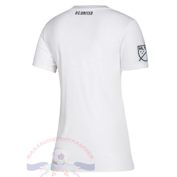 Magasin Foot Adidas Exterieur Maillot Femme D.C. United 2019 2020 Blanc