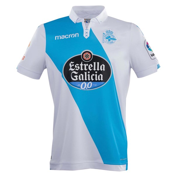Magasin Foot Macron Exterieur Maillots Deportivo La Corogne 2017 2018 Blanc