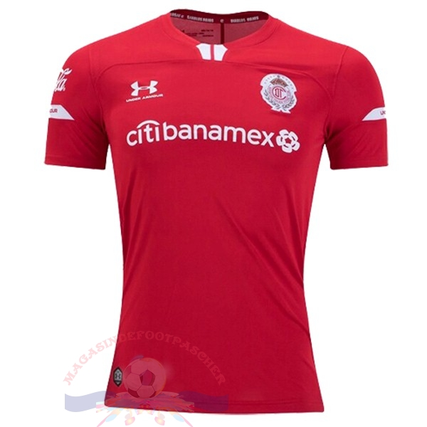 Magasin Foot Under Armour Domicile Maillot Deportivo Toluca 2019 2020 Rouge