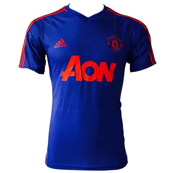 Magasin Foot adidas Entrainement Manchester United 2017 2018 Bleu