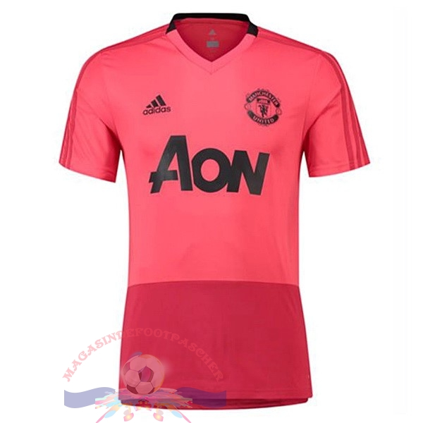 Magasin Foot adidas Entrainement Manchester United 2018-2019 Rose