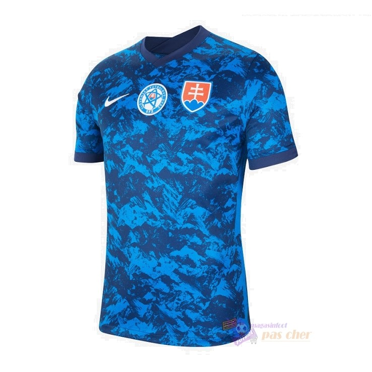 Magasin Foot Nike Domicile Maillot Slovaquie 2020 Bleu