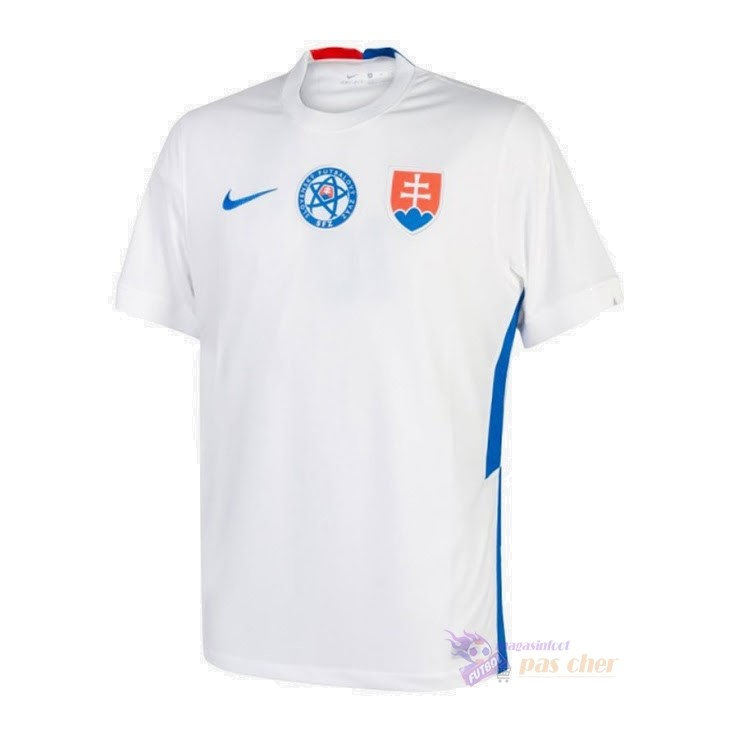 Magasin Foot Nike Exterieur Maillot Slovaquie 2020 Blanc