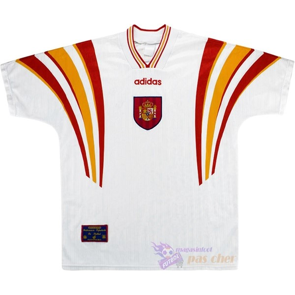 Magasin Foot adidas Third Maillot Espagne Rétro 1996 Blanc