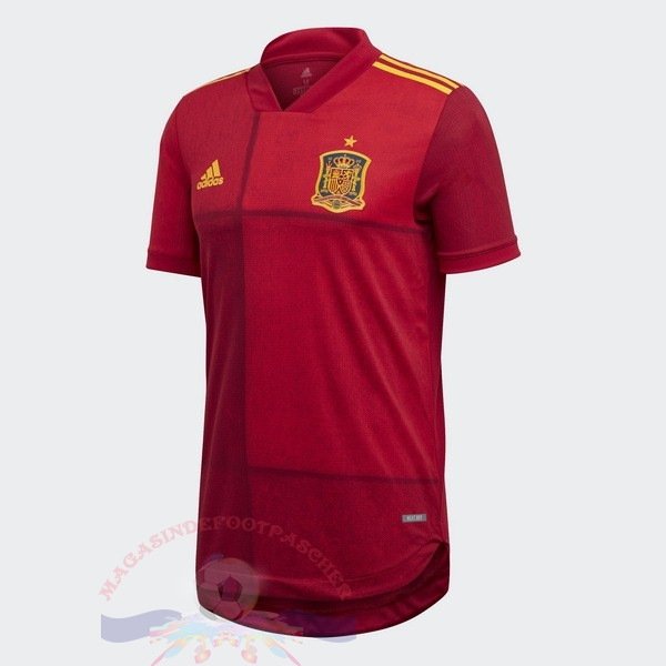 Magasin Foot adidas Domicile Maillot Espagne 2020 Rouge