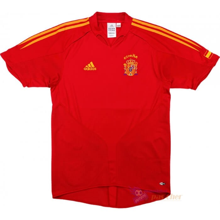 Magasin Foot adidas Domicile Maillot Espagne Retro 2004 2006 Rouge