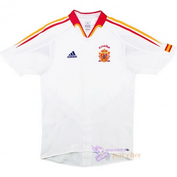 Magasin Foot adidas Exterieur Maillot Espagne Retro 2004 2006 Blanc