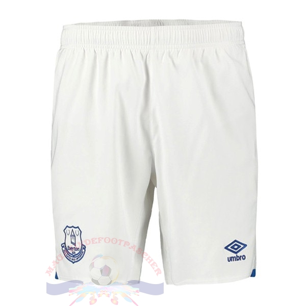 Magasin Foot Umbro Domicile Pantalon Everton 2019 2020 Blanc