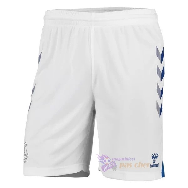 Magasin Foot hummel Domicile Pantalon Everton 2020 2021 Blanc