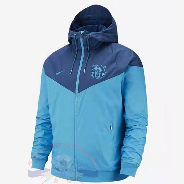 Magasin Foot Nike Coupe Vent Barcelona 2019 2020 Bleu Clair