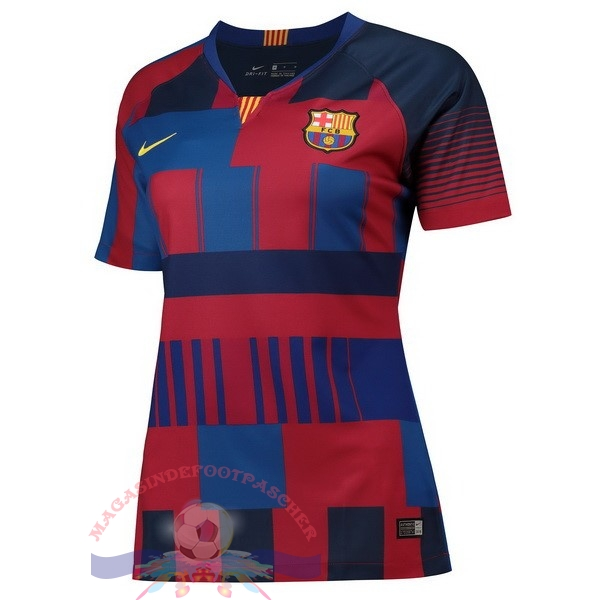 Magasin Foot Nike Maillots Femme Barcelona 20th Bleu Rouge