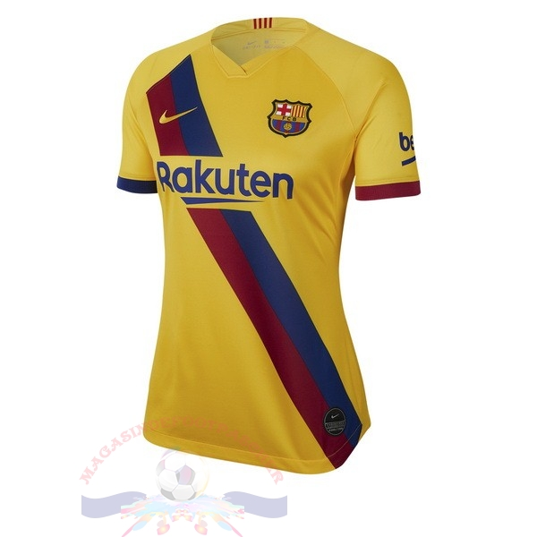 Magasin Foot Nike Exterieur Maillot Femme Barcelona 2019 2020 Jaune