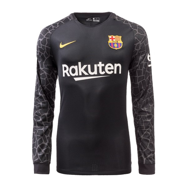 Magasin Foot Nike Manches Longues Gardien Barcelona 2017 2018 Noir