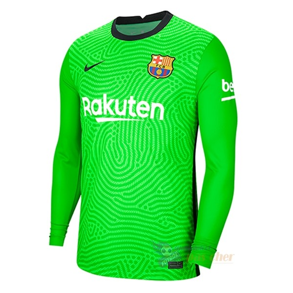 Magasin Foot Nike Gardien Manches Longues Barcelona 2020 2021 Vert
