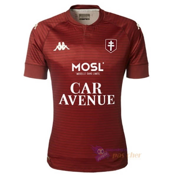 Magasin Foot Kappa Domicile Maillot Metz 2020 2021 Rouge