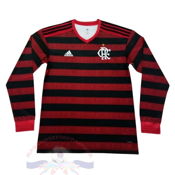 Magasin Foot adidas Domicile Manches Longues Flamengo 2019 2020 Rouge