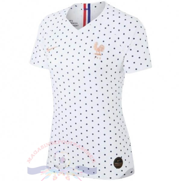 Magasin Foot Nike Exterieur Maillot Femme France 2019 Blanc