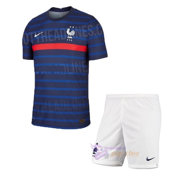 Magasin Foot Nike Domicile Ensemble Enfant France 2020 Bleu