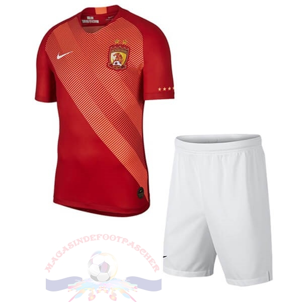 Magasin Foot Nike Domicile Ensemble Enfant Evergrande 2019 2020 Rouge Blanc
