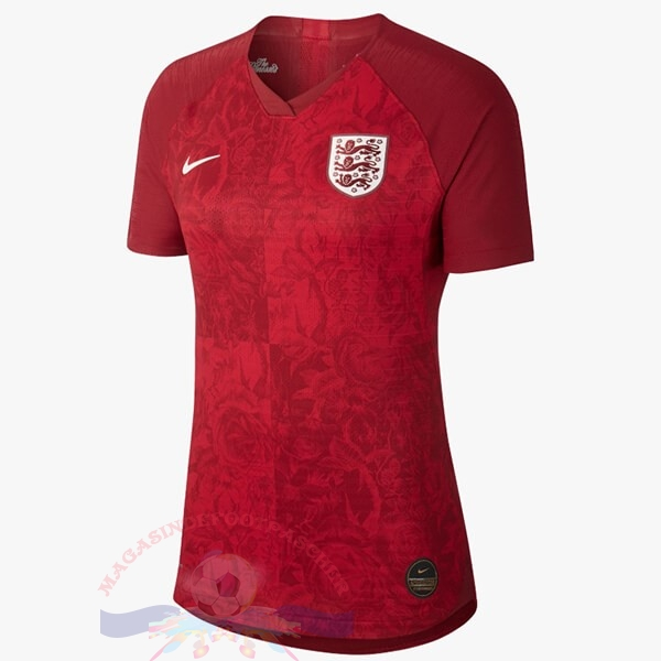 Magasin Foot Nike Exterieur Maillot Femme Angleterre 2019 Rouge