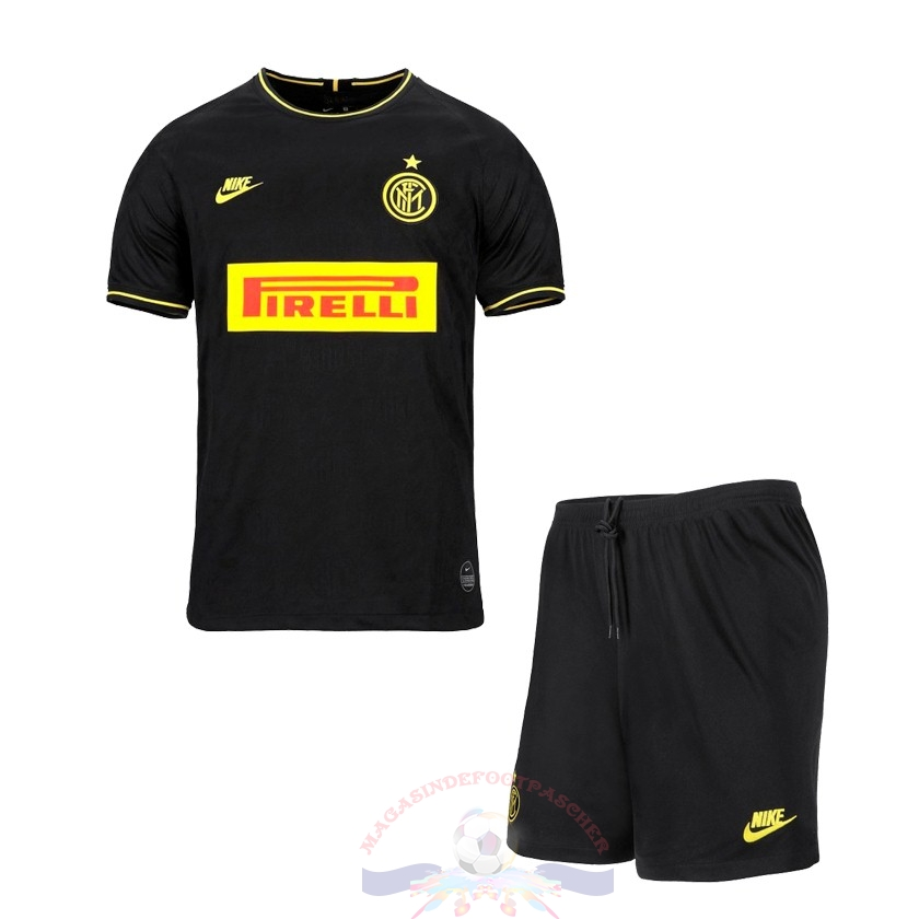 Magasin Foot Nike Third Ensemble Enfant Inter Milán 2019 2020 Noir